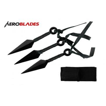 3 piece Kunai Throwing Knifes