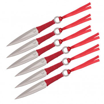 6PC THROWING KNIFE W/CASE 5.5