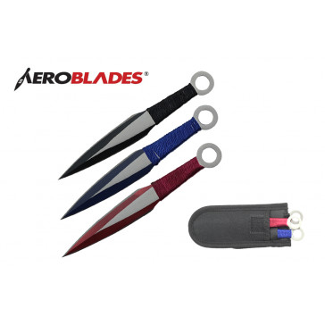"6.5"" 3 pcs set two tones blade throwing knife"