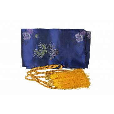 Blue Sword Bag With Gold Tassels
