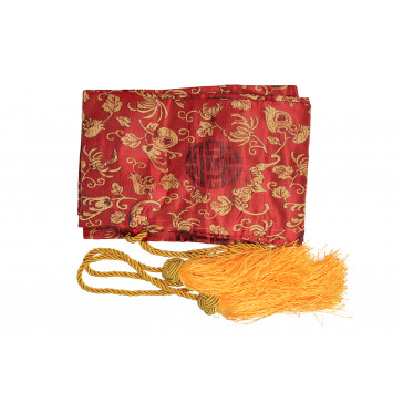 Red Sword Bag With Gold Tassels