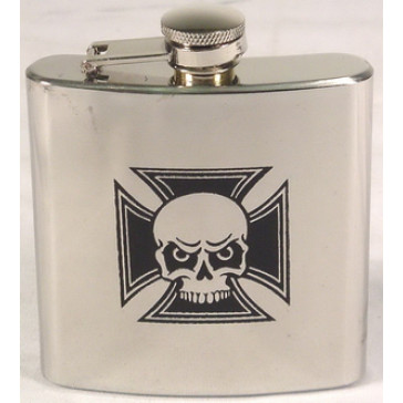 6OZ SKULL HIP FLASK FINISH