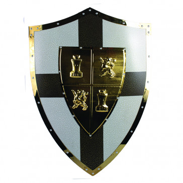 "25"" X 18.5"" Metal Richard the Lionheart Shield"