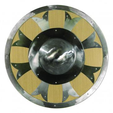 "25""  Brown Metal Round Shield"