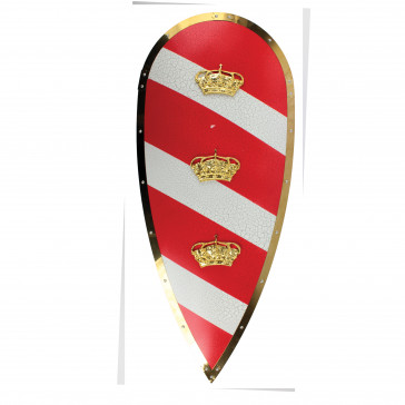 "35.5"" X 15"" Norman Knight's Metal Kite Shield"