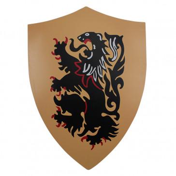 """25"""" X 18"""" Rampant Lion Metal Shield"""
