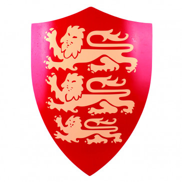 "25"" X 18"" Richard the Lionheart Metal Shield (Red)"