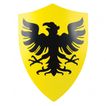 "25"" X 18"" Yellow & Black German Eagle Metal Shield"
