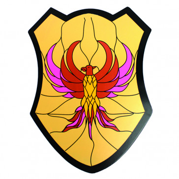 Mini Wooden Shield /w Eagle Detail (Yellow)