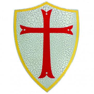 Mini Wooden Red Crusaders Cross Shield
