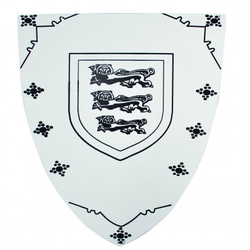 Mini Wooden Shield With 3 Lions Detail