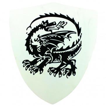Mini Wooden Shield With Dragon Detail