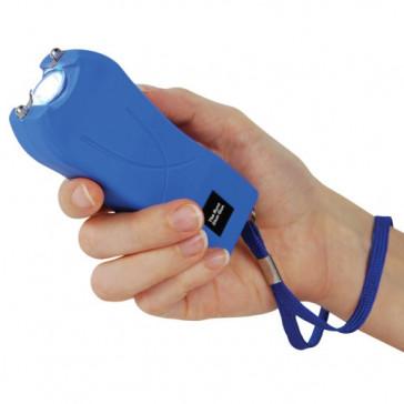 80-Million Volt Flashlight Blue Stungun Taser w/ Safety Pin