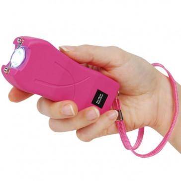 80-Million Volt Flashlight Pink Stungun Taser w/ Safety Pin