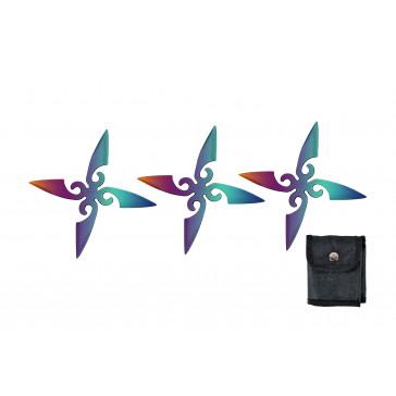 4 Point Ninja Stars (Rainbow)