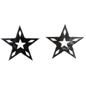Black/Chrome Throwing Stars