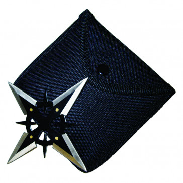 Black On Chrome Throwing Star
