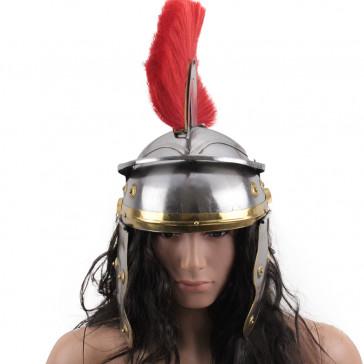 Roman Helmet W/ Red Plume