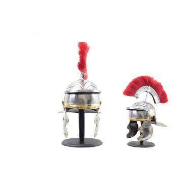 Roman Centurion Helmet w. Red Plume and Steel Rod