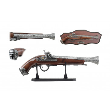 "14"" Antique Gun Replica w/ Display"