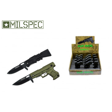 12 Piece Assorted Gun Styles Mini Pocket Knives With Display Case