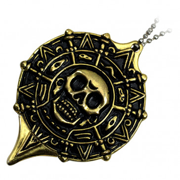 Gold Pirate Neck Knife With Hidden Blade and Necklace
