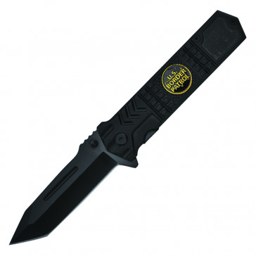 "8"" Spring Assisted Knife w/ Black Handle"