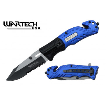 "8"" Spring Assisted Rescue Knife w/ LED Light"