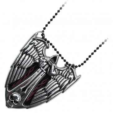 Silver Evil Angel Neck Knife With Hidden Blade and Necklace