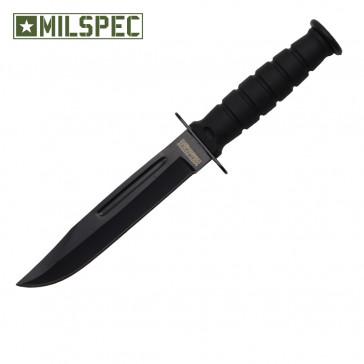 "6"" Drop Point Neck Knife w/Sheath (Black)"