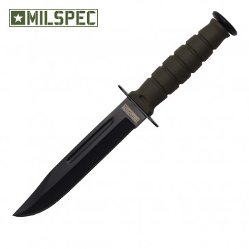 "6"" Drop Point Neck Knife w/Sheath (Green)"