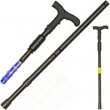 1 Million Volt Stun Gun Walking Cane with Flashlight