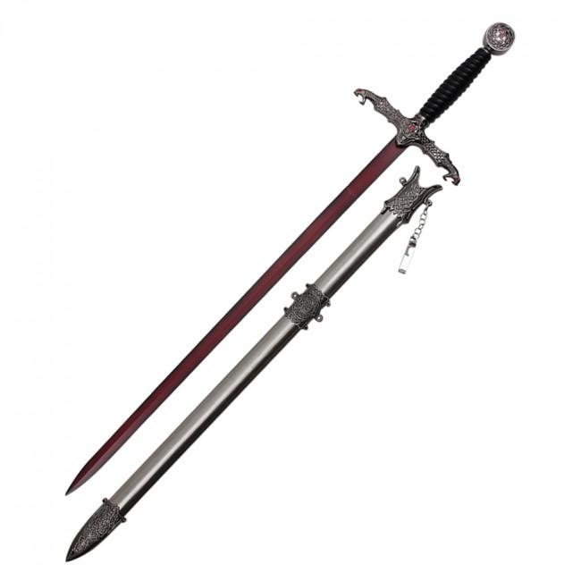 Wuu Jau Co, Inc - Fantasy Sword With Blood Red Blade Black ...