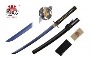 "32"" Black Wakizashi w/ Blue Blade"