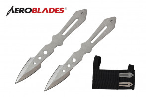 "5.5"" 2pc. Chrome Throwing Knives"
