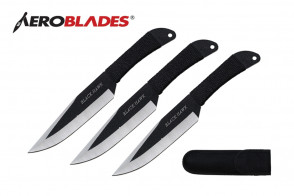 "9"" 3pc. Black Hawk Throwing Knives"