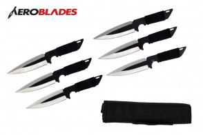 "6.5"" Set of 6 Cord Wrapped Throwing Knives"