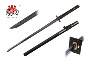 "41.5"" Black Katana w / Real Ray Skin Wrapped Handle"