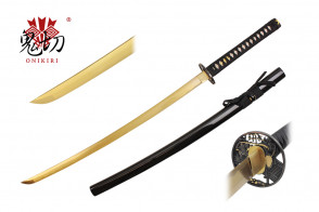 "41.5"" Black Katana w / Gold Blade"