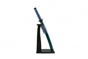 Miniature Katana  w/ Vertical Stand (Green)