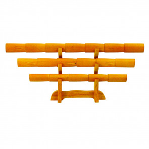 """14.5"""" 3-pc Miniature DELUXE ShirasayaLetter Opener w/ Vertical Stand (Bamboo)"""