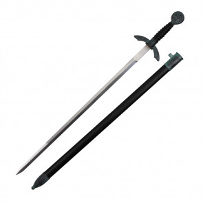 """30"""" German Dagger With Black Handle And Scabbard"""