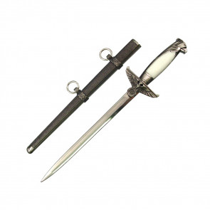 White Eagle Handle German Dagger With Steel Scabbard