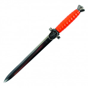 Red Handle German Dagger With Steel Scabbard