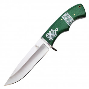 """11"""" Fixed Blade Hunting Knife w/ Celtic Patterned Handle"""
