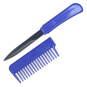 """6.5"""" Blue Comb Knife"""