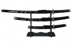 3 Piece Samurai Set w/ Stand