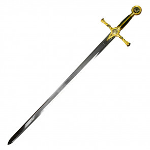 "45"" Green Masonic Sword With Green And Gold Handle"