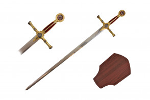 "38"" Red And Gold Masonic Sword"