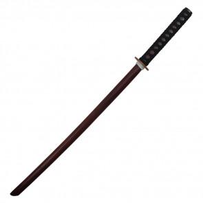 "40"" SAMURAI RED WOOD TRAINING SWORD BOKEN (CORD WRAPPED HANDLE)"